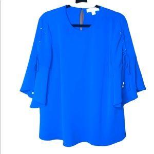 Michael Kors Blue shoulder tie top